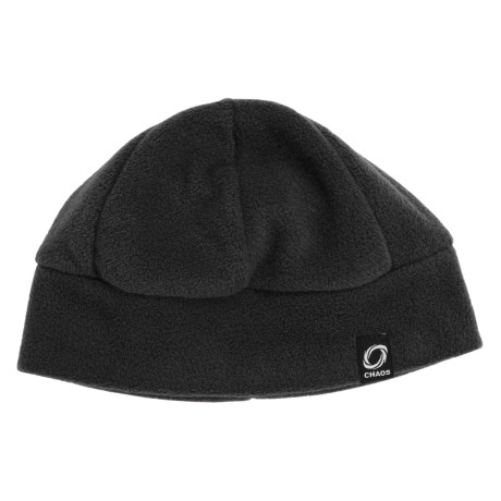 Chaos Ida Fleece Beanie Hat (For Men and Women) in Black