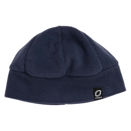 Chaos Ida Fleece Beanie Hat (For Men and Women) in Navy