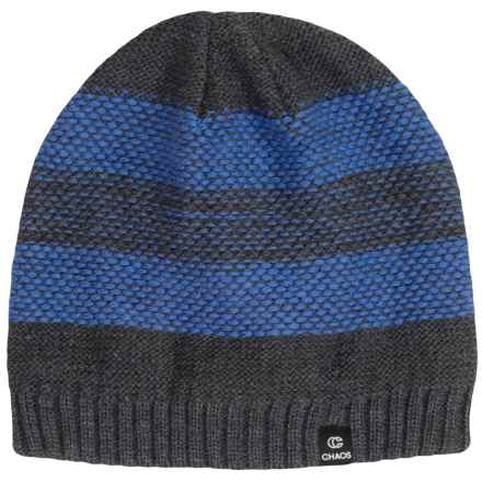Chaos Knit Striped Hat (For Big Kids) in Blue - Closeouts