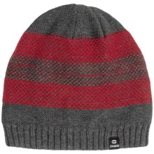 Chaos Knit Striped Hat (For Big Kids) in Red - Closeouts