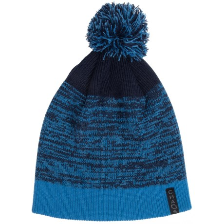 Chaos Knit Striped Pompom Hat (For Big Kids)