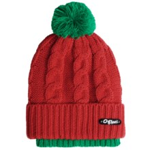 Chaos Koweba Layered Beanie Hat (For Girls) in 017 Lipstick - Closeouts