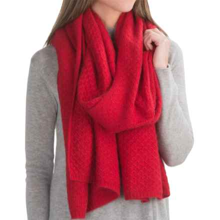 Chaos Lux Collection A-Line Wrap - Cashmere Blend (For Women) in Red - Closeouts