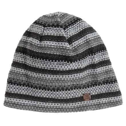 Chaos Lux Dakota Beanie - Merino Wool Blend (For Men and Women) in Black / Grey - Closeouts