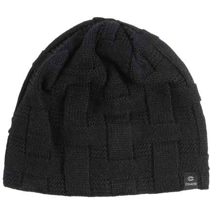 Chaos Mag Basket-Weave Knit Beanie (For Men and Women) in Black - Closeouts