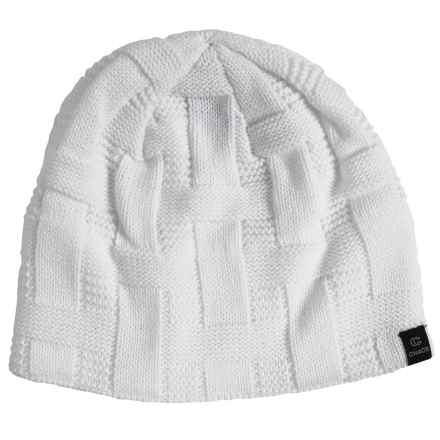 Chaos Mag Basket-Weave Knit Beanie (For Men and Women) in White - Closeouts