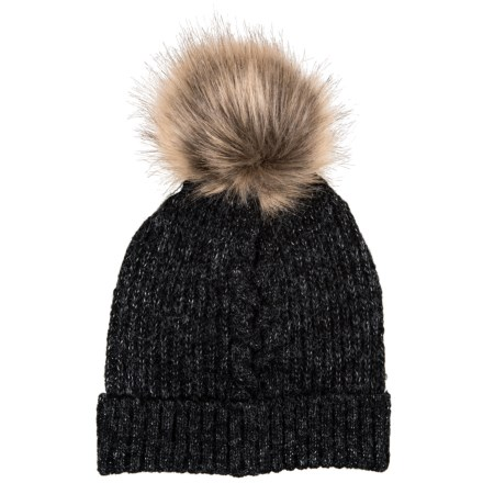 21687459ea74c Chaos Natural Knit Faux-Fur Beanie (For Women) in Heather Black - Closeouts