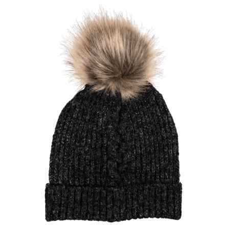 Chaos Natural Knit Faux-Fur Beanie (For Women) in Heather Black - Closeouts