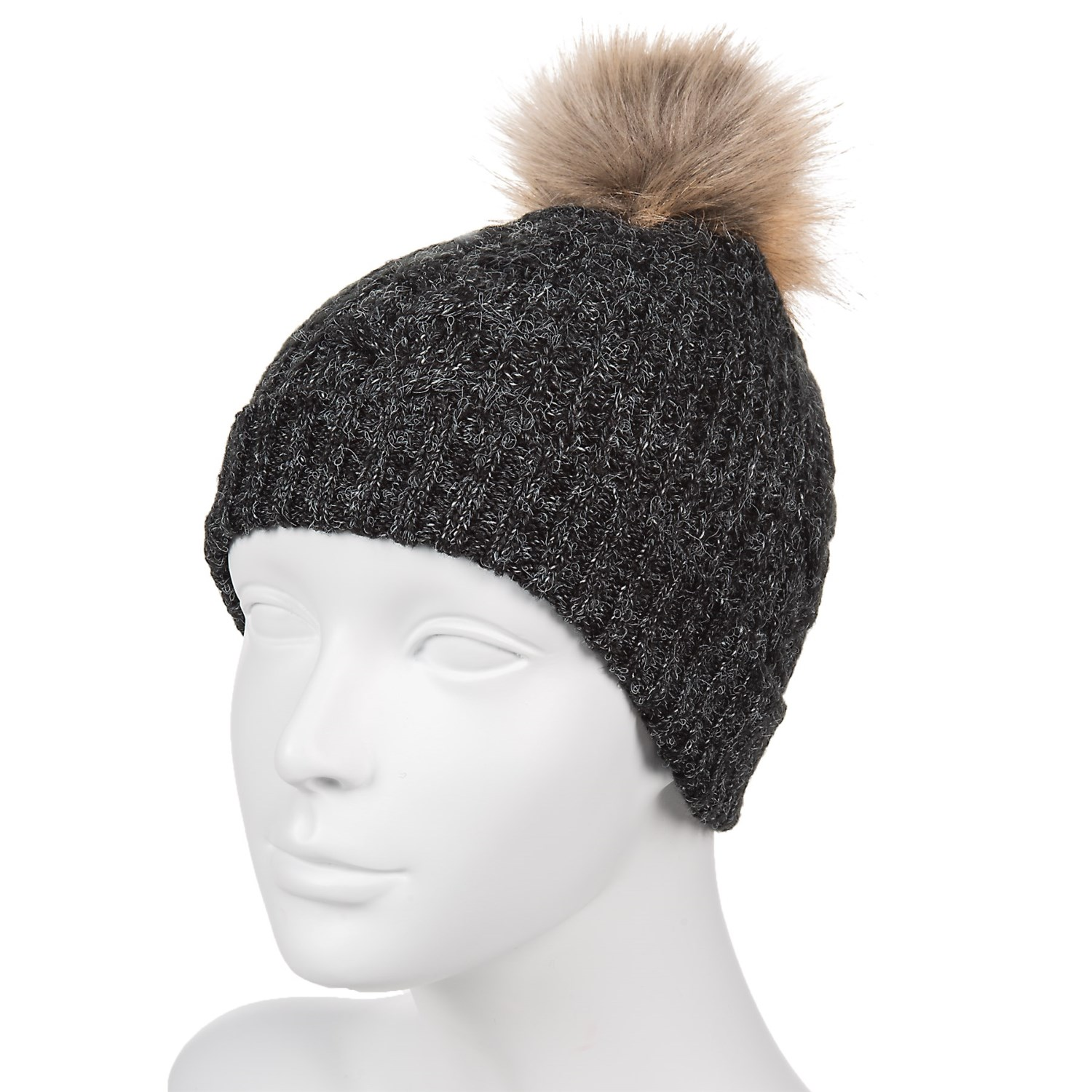 Chaos Natural Knit Faux-Fur Beanie (For Women) - Save 80% a4ad58774