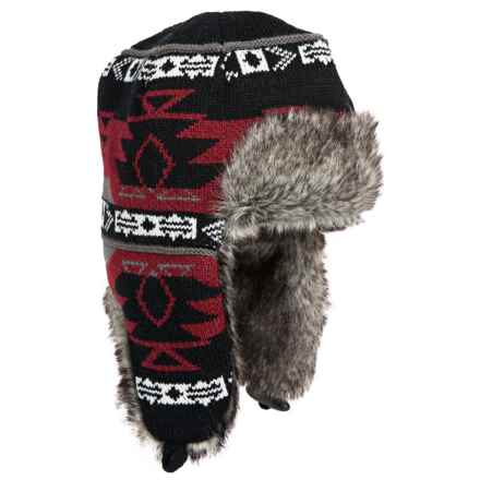 Chaos Pitt Trapper Hat - Ear Flaps, Faux-Fur Lining (For Men and Women) in Red - Closeouts