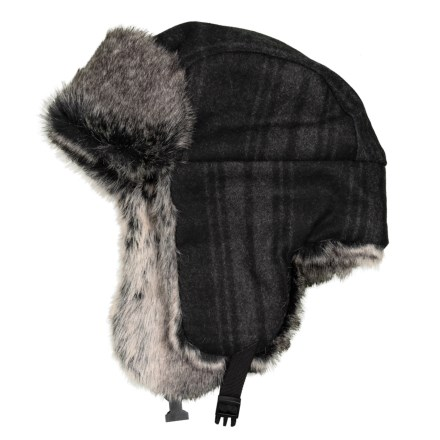 3997a6cbe7003 Chaos Plaid Trapper Hat - Faux-Fur Lined (For Men) in Black -