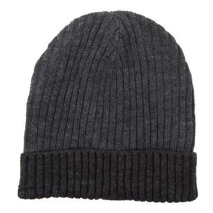 Chaos Ribbed Handknit Cuffed Beanie (For Men) in Dark Heather Grey -  Closeouts 829ca7f8842e