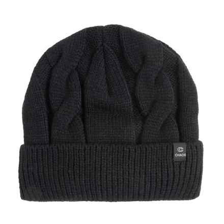Chaos Sade Cable-Knit Beanie (For Men and Women) in Black - Closeouts
