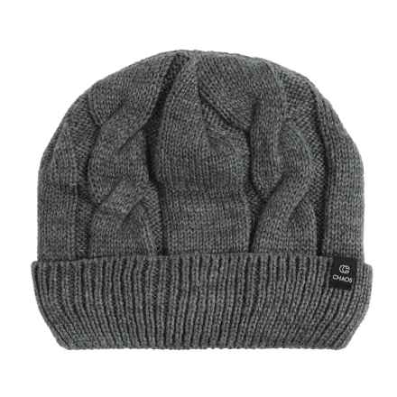 Chaos Sade Cable-Knit Beanie (For Men and Women) in Grey - Closeouts