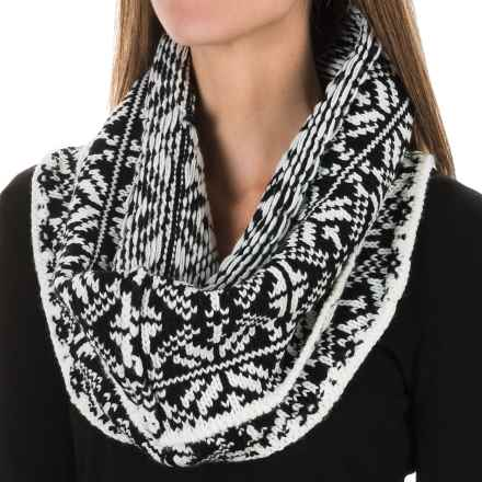Chaos Snaps Knit Infinity Scarf (For Women) in Black - Closeouts