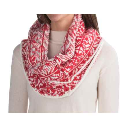 Chaos Snaps Knit Infinity Scarf (For Women) in Red - Closeouts
