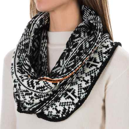 Chaos Snaps Knit Infinity Scarf (For Women) in White - Closeouts