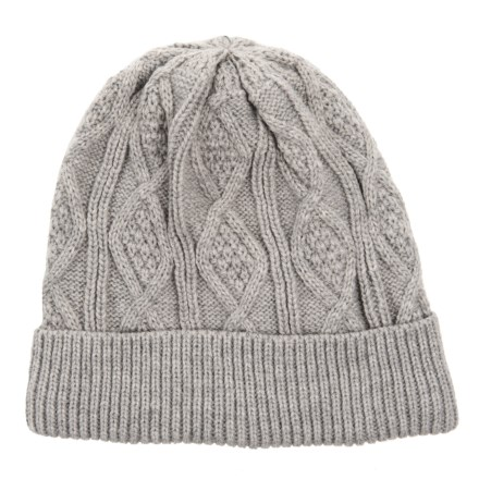 Chaos Solid Fleece-Lined Cable-Knit Beanie (For Men) in Light Heather d40aee1dd0de
