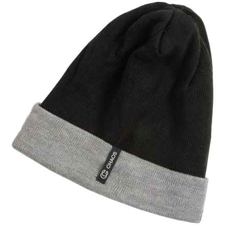 Chaos Spirit Two-Tone Beanie - Reversible (For Men and Women) in Black - Closeouts