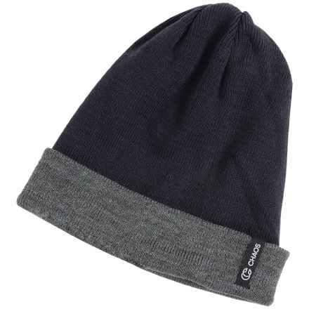 Chaos Spirit Two-Tone Beanie - Reversible (For Men and Women) in Navy - Closeouts