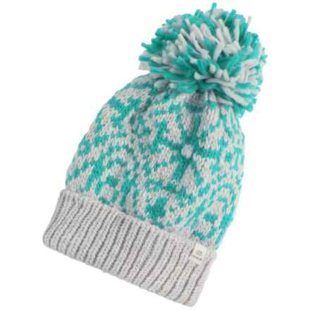 Chaos Stamp Slouchy Beanie (For Women) in Cyan - Closeouts