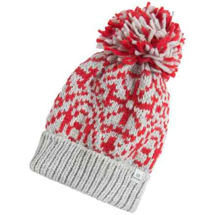 Chaos Stamp Slouchy Beanie (For Women) in Red - Closeouts