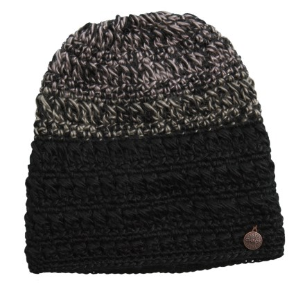 f8f6774808f Chaos Taffeta Hand-Crocheted Multicolor Beanie (For Women) in Black -  Closeouts