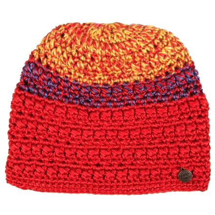 4cb5ee8e504 Chaos Taffeta Hand-Crocheted Multicolor Beanie (For Women) in Red -  Closeouts
