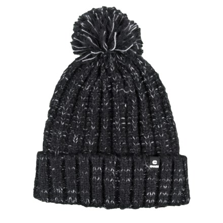 cc1f5436a2e Chaos Tajah Chunky Knit Beanie with Pom (For Women) in Black - Closeouts