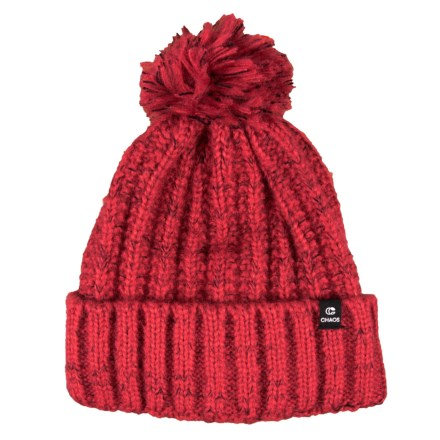 Chaos Tajah Chunky Knit Beanie with Pom (For Women) in Red - Closeouts 255a5beedb58