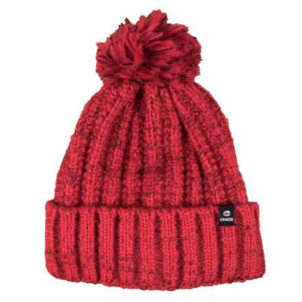 c9ec9ed3def Chaos Tajah Chunky Knit Beanie with Pom (For Women) in Red - Closeouts