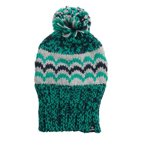 524bc216f79 Chaos Tallulah Jacquard Chunky Knit Beanie with Pom (For Women) in Aqua  Combo