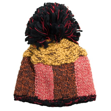 518b3c0ee2c Chaos Tedda Handknit Marl Beanie with Pom (For Women) in Black - Closeouts