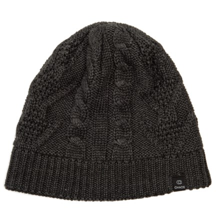63fa3eeb15 Chaos Trisha Cable-Knit Beanie (For Women) in Heather Black - Closeouts