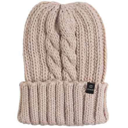 Chaos Wishii Knit Beanie (For Men and Women) in Cream - Closeouts