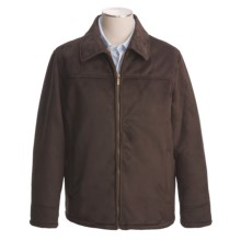 Chaps Faux-Shearling Microsuede Jacket (For Men) in Brown - Closeouts