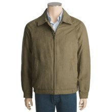 Chaps Microsuede Bomber Jacket (For Men) in Olive - Closeouts