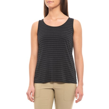 Image of Charcoal Heather Stripe Foundation Tank Top (For Women)