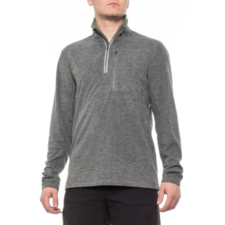 Image of Charcoal Midlayer Shirt - Zip Neck, Long Sleeve (For Men)