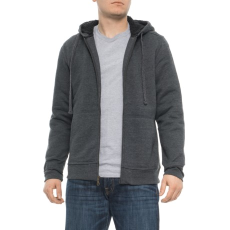 Image of Charcoal Sherpa-Lined Hoodie (For Men)