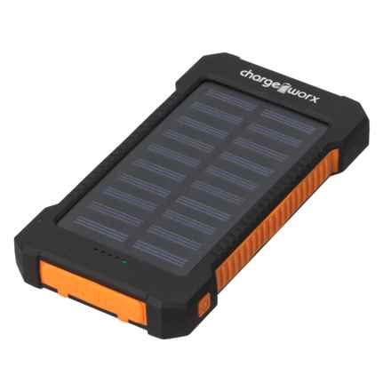 ChargeWorx Solar Recharging Battery Bank - 10000 mAh in Black