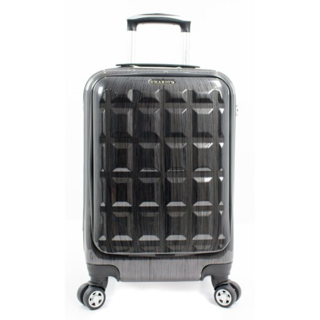 """Chariot Travelware 20"""" Duro Hardside Spinner Carry-On Suitcase in Grey"""