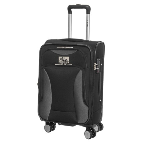 """Chariot Travelware 20"""" Madrid Spinner Carry-On Suitcase in Black"""