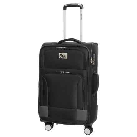 """Chariot Travelware 20"""" Naples Spinner Carry-On Suitcase in Black - Closeouts"""