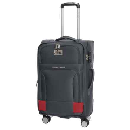 """Chariot Travelware 24"""" Naples Spinner Suitcase in Grey - Closeouts"""