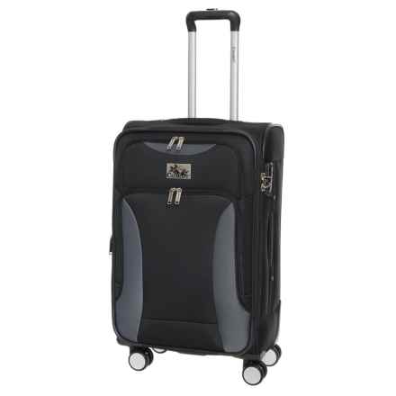 """Chariot Travelware 24"""" Travelware Madrid Spinner Suitcase in Black - Closeouts"""