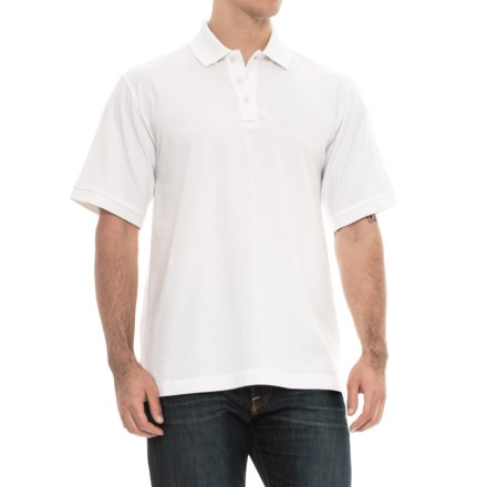 b50ea6de7ce Charles River Apparel Solid Polo Shirt - Short Sleeve (For Men) in White -