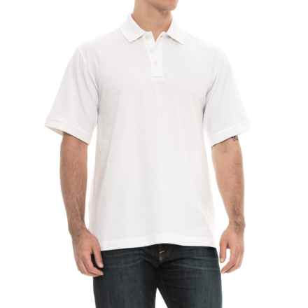 Charles River Apparel Solid Polo Shirt - Short Sleeve (For Men) in White - Overstock