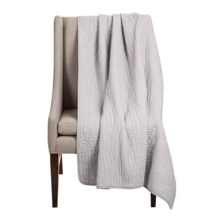 Charles Street Ripple-Stitch Throw Blanket in Lunar Rock - Closeouts