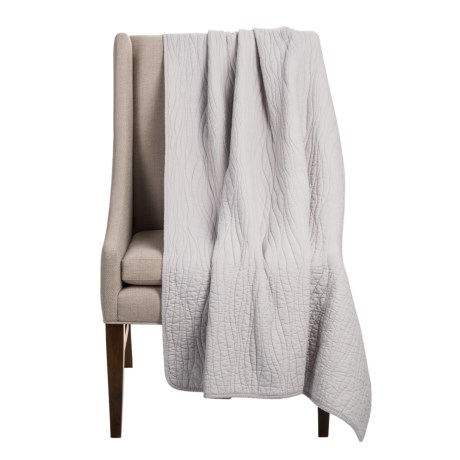 Charles Street Ripple-Stitch Throw Blanket